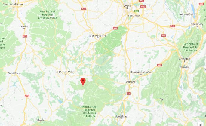 Plan Les Estables auvergne Rhônes